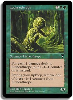Lichenthrope Visions Magic: The Gathering
