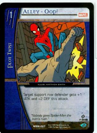 Alley-Oop! FOIL Web of Spiderman Vs. System