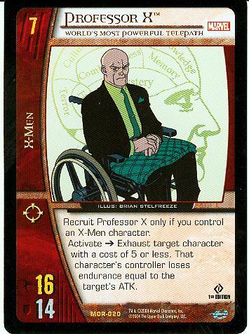 Professor X Marvel Origins Vs. System
