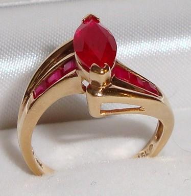 Vintage ©LGL 10K Gold Ruby Ring (6½) , Sybilhd81
