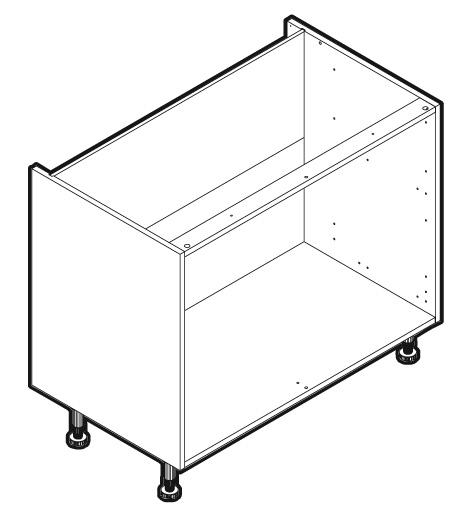 Mfi Kitchen Cabinets: MFI Kitchen Drawer Base Cabinet Unit 1000mm NCFW210