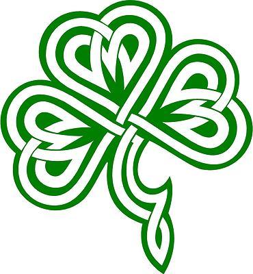 Irish Clover / Shamrock Celtic Knot Decal /Sticker -You ...