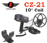 """Fisher CZ-21 Metal Detector With 10"""" Coil"""