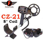 """Fisher CZ-21 Metal Detector with 8"""" Coil"""