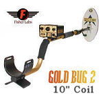 """Fisher Gold Bug2 Metal Detector With 10"""" Search Co"""