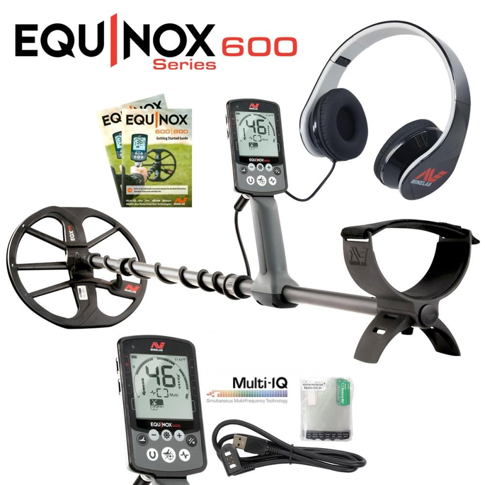 Minelab Equinox 600 metal detector with Headphones