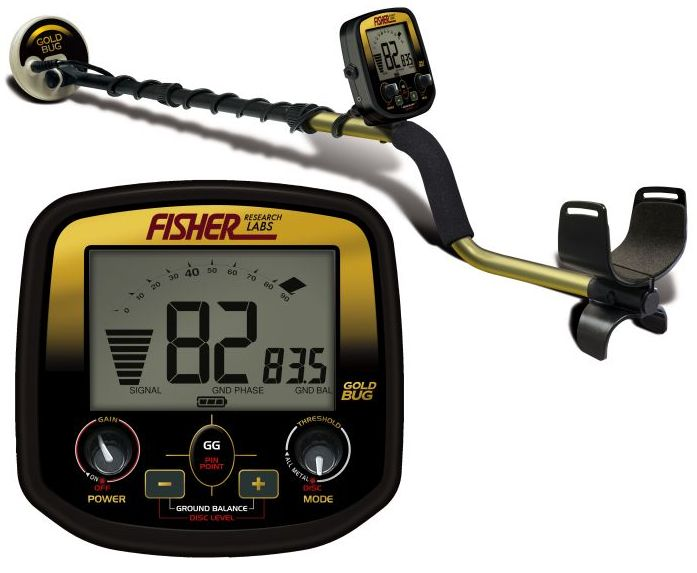 Fisher Gold Bug Pro Metal Detector with waterproof