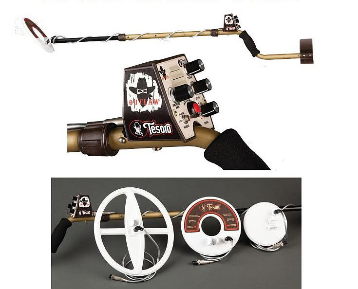 Tesoro Outlaw Metal Detector with 3 Coils plus Low
