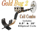 "Fisher Gold Bug2 Metal Detector Combo with 10"" and"