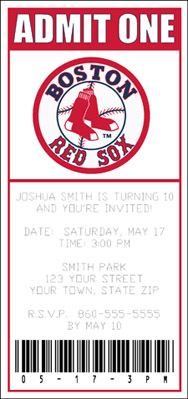 J Amp S Graphics 12 Personalized Red Sox Ticket Style