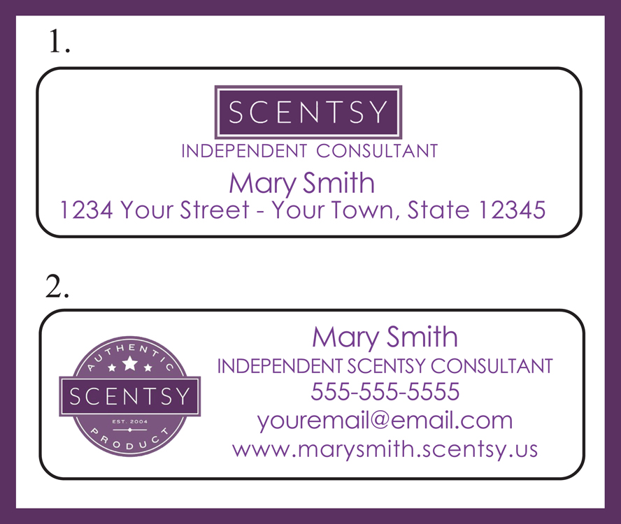 J & S Graphics : Personalized SCENTSY Candle Representative ADDRESS / Catalog LABELS