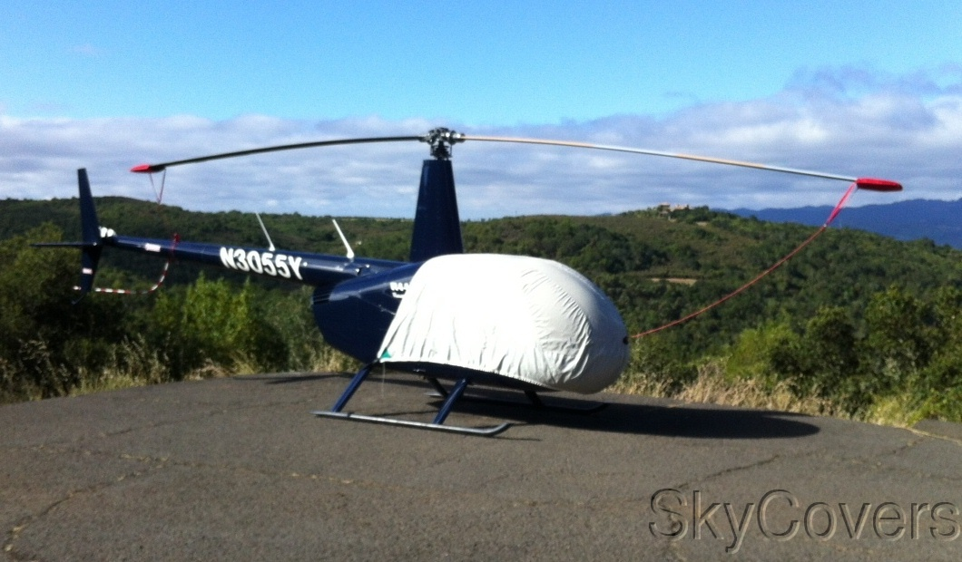 SkyCovers : Robinson Helicopter Blade Tie-Downs