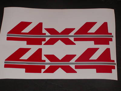 COLOR 4X4 #6 Truck decal decals Chevy Ford Ram Dakota