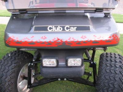 Hawksdecals Golf Cart Kart Flames Graphics Decal Clubs