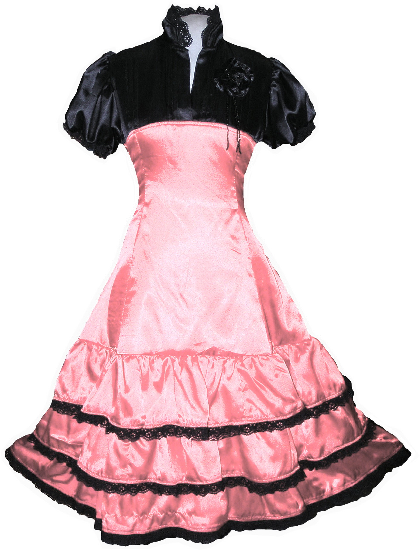 Baby Pink Lolitta Gothic Steampunk Princess Dress Party