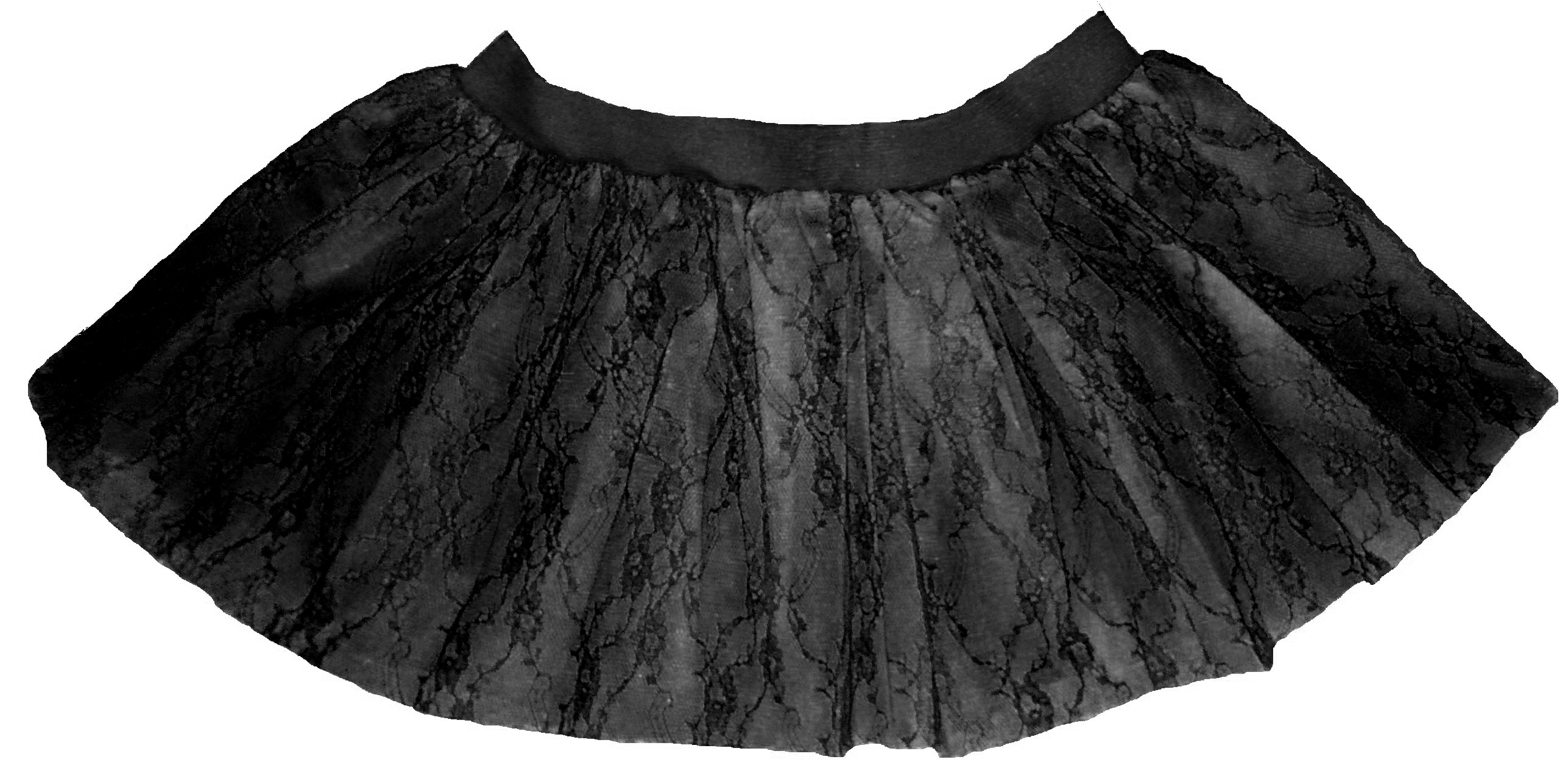 Black black flower lace mini petticoat tutu skirt