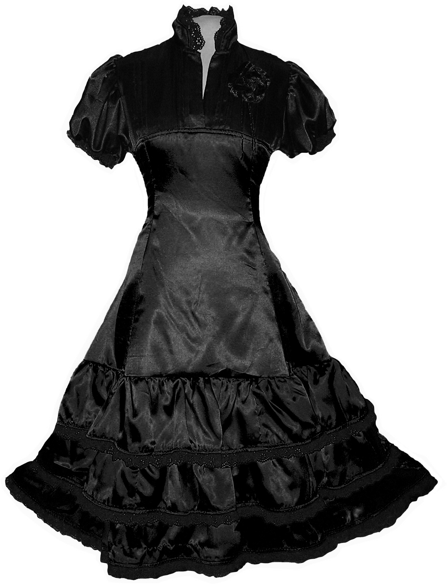 Black Lolitta Gothic Steampunk Dress Party 60s 70s