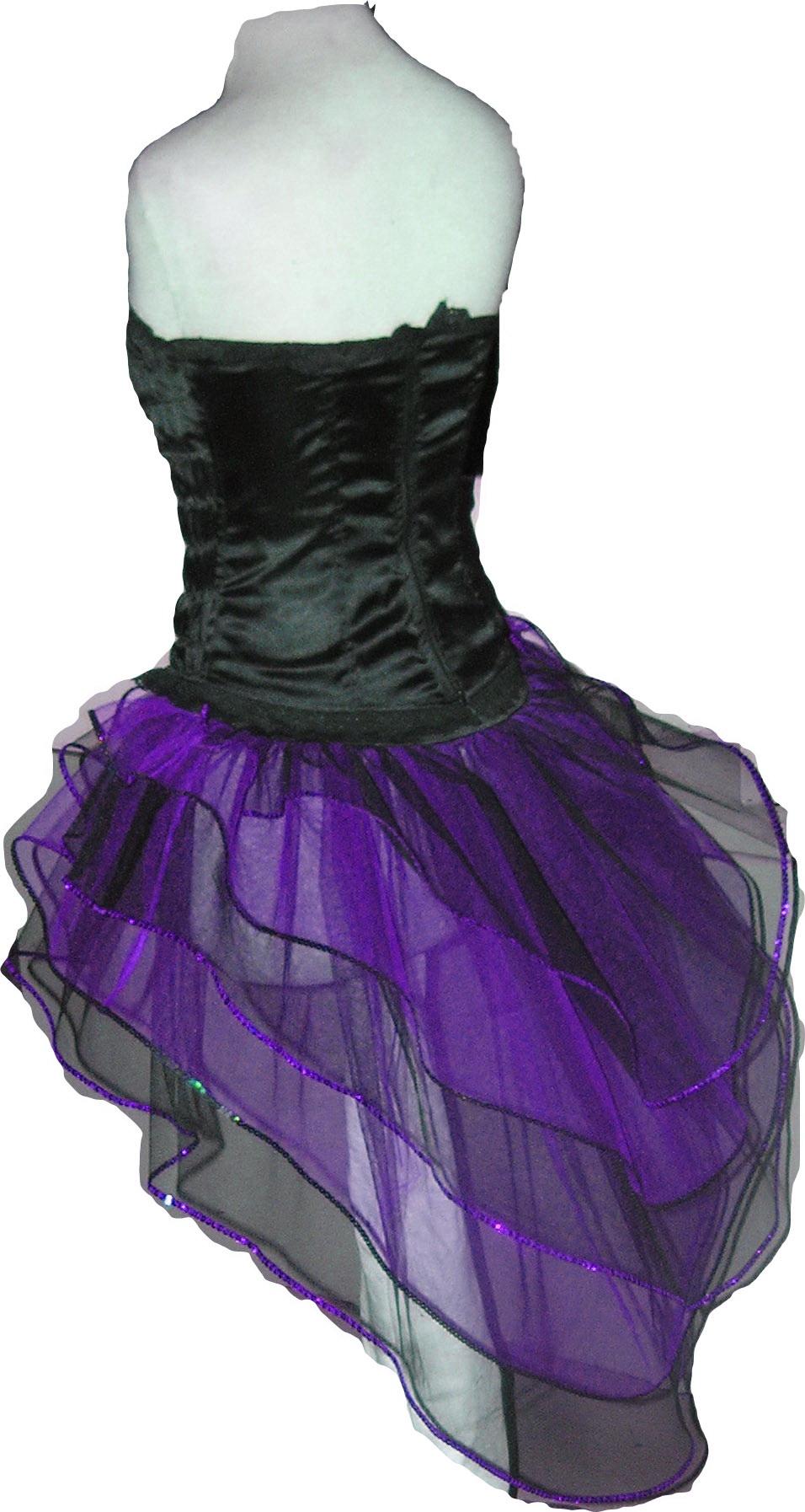 Purple Black Tutu Skirt Peacock Bustle petticoat G
