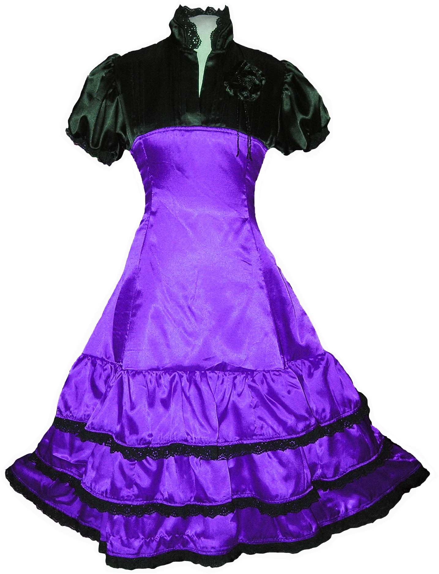 Purple Lolitta Gothic Steampunk Queen Dress Party