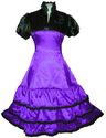 Purple Lolitta Gothic Steampunk Queen Dress Party