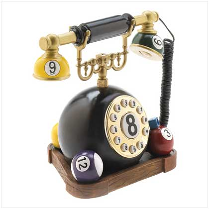 Home Office Users Decor Eight Ball Phone