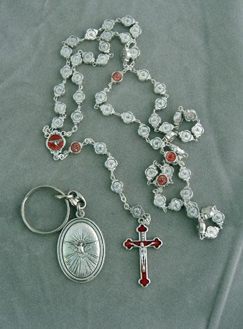 Holy Spirit Rosary & key chain