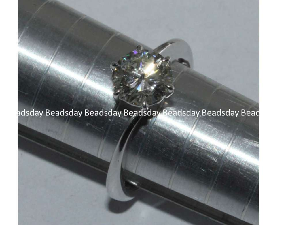 0.5ct GIA D Color Diamond Engagement 18K Au750 Whi