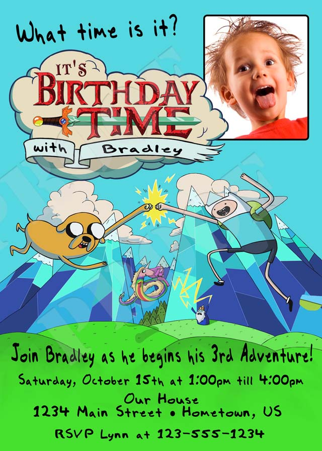 Personalized Printable Invitations Cmartistry Adventure Time