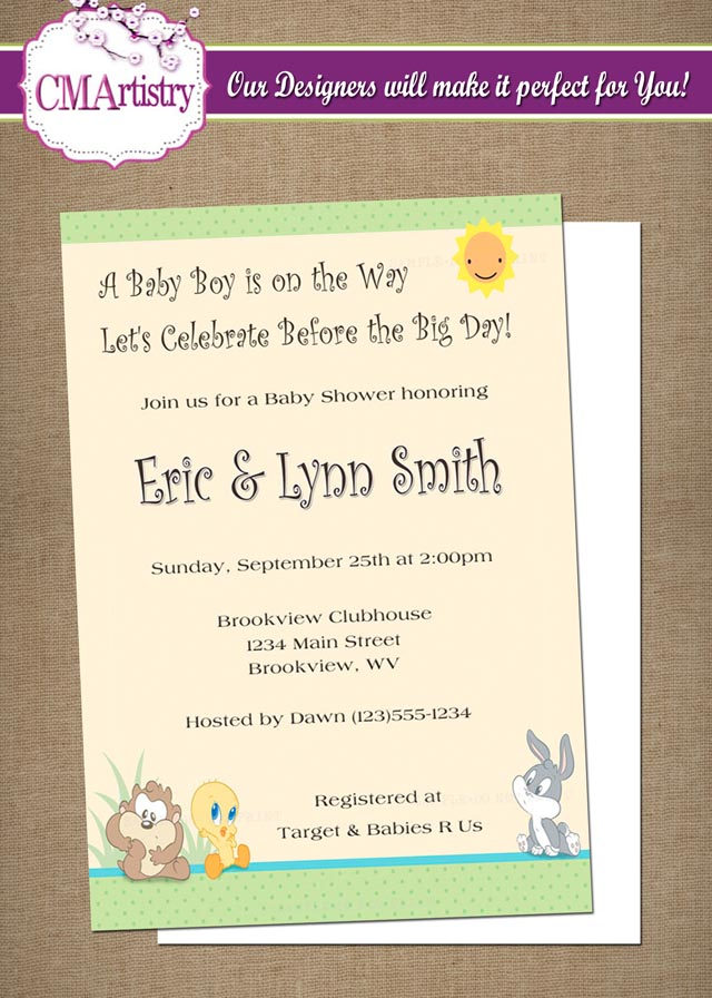 Baby Looney Tunes Baby Shower Baby Looney Tunes Shower