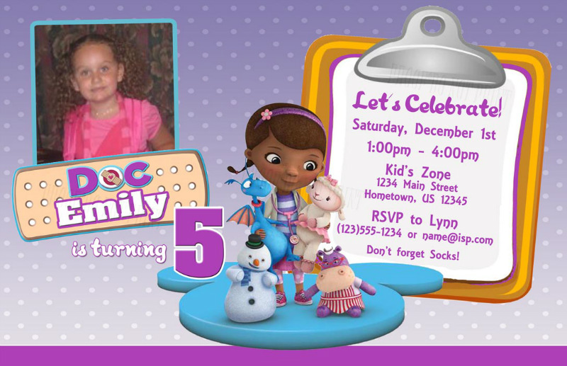 Personalized Printable Invitations Cmartistry Doc Mcstuffins