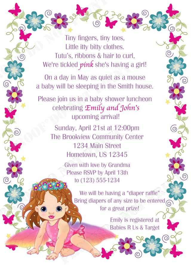Sprinkle Baby Shower Invitation Wording for good invitations example