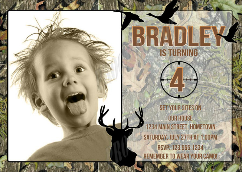 Personalized Photo Invitations – Hunting Party Invitations