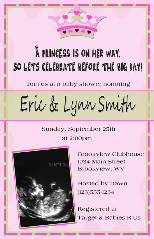back gallery for free printable princess baby shower invitations