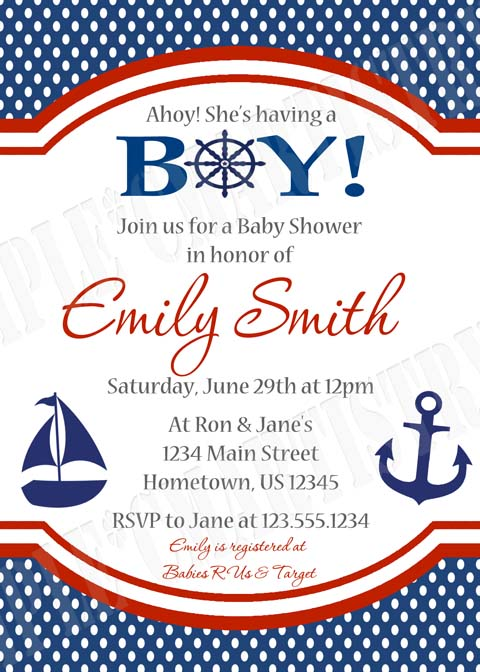 Personalized printable invitations cmartistry personalized personalized nautical sail boat baby shower invitations diy printable filmwisefo Image collections