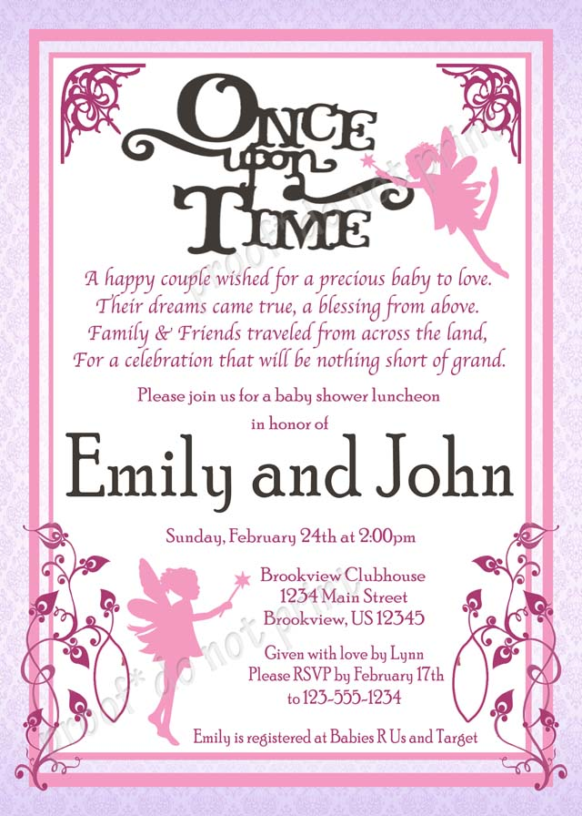 Personalized Photo Invitations | Cmartistry : Once Upon a ...