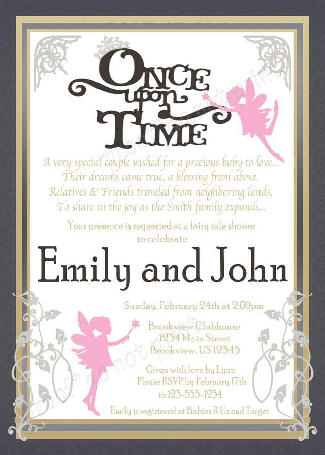 Personalized Printable Invitations   Cmartistry : Once Upon a Time ...