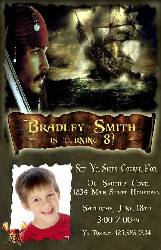 Free Pirate Invitations for perfect invitations layout