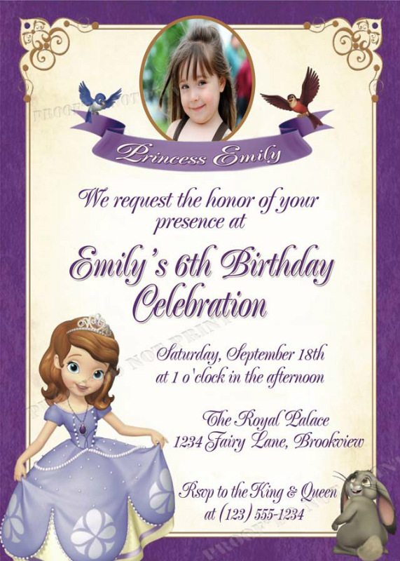 Personalized printable invitations cmartistry sofia the first sofia the first ribbon birthday party invitations diy printable filmwisefo Images