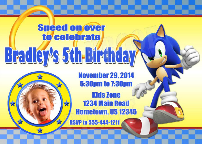 Personalized Printable Invitations Cmartistry Sonic the Hedgehog