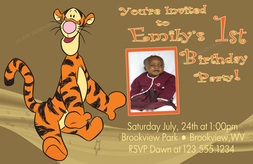 Personalized printable invitations cmartistry tigger birthday tigger birthday photo party invitations diy printable filmwisefo Gallery
