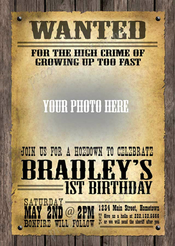 Personalized Photo Invitations | Cmartistry : Vintage ...
