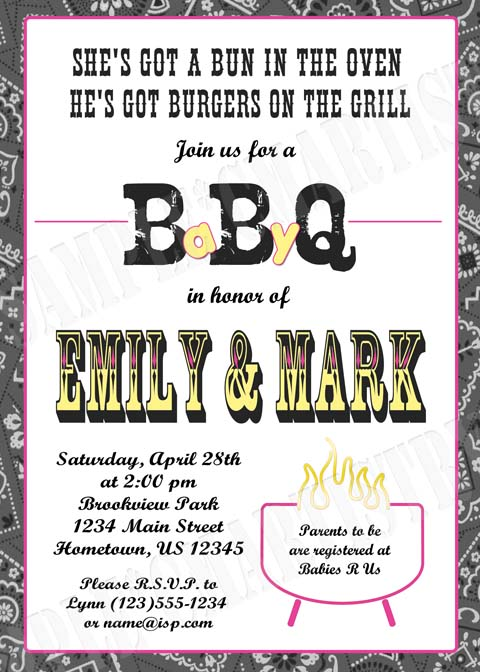 invitations cmartistry personalized bbq baby q shower invitations
