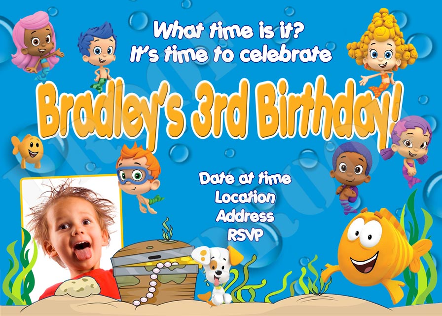 Personalized Printable Invitations Cmartistry Bubble Guppies