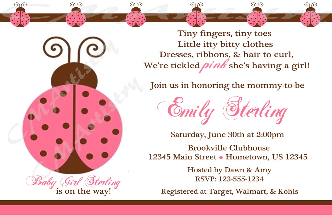 Personalized Printable Invitations | Cmartistry : Personalized Pink ...