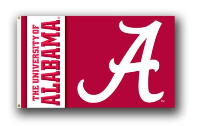 Alabama Crimson Tide 3' by 5' Flag Heavy Duty Poly