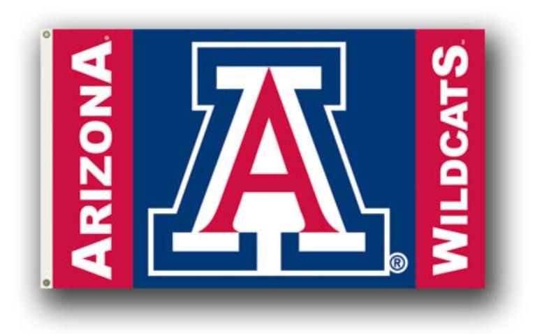 Arizona Wildcats 3' by 5' Flag Heavy Duty Polyeste