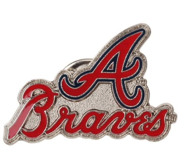 "Atlanta Braves Lapel Pin Team Logo Design 1-1/8"" W"