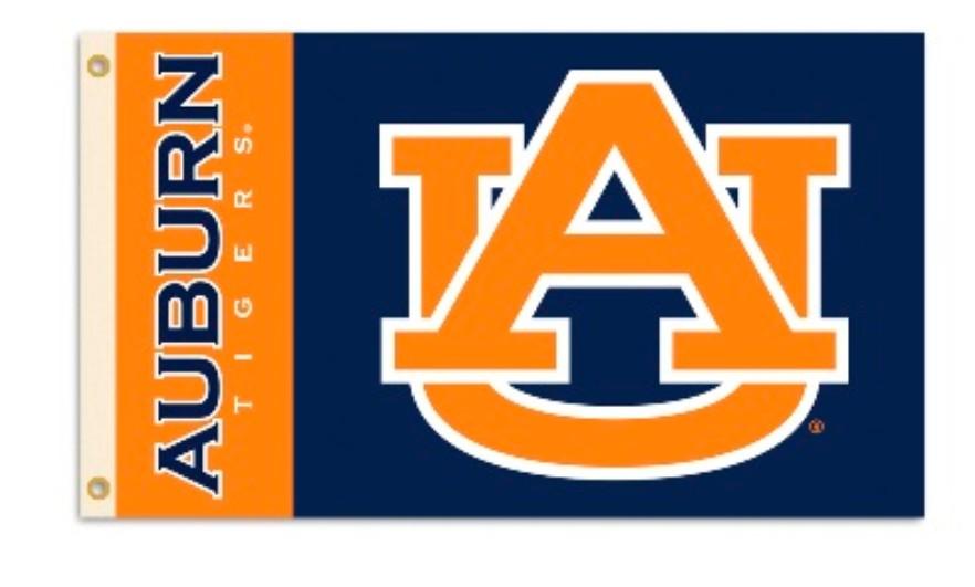 Auburn Tigers 3' by 5' Flag Heavy Duty Polyester