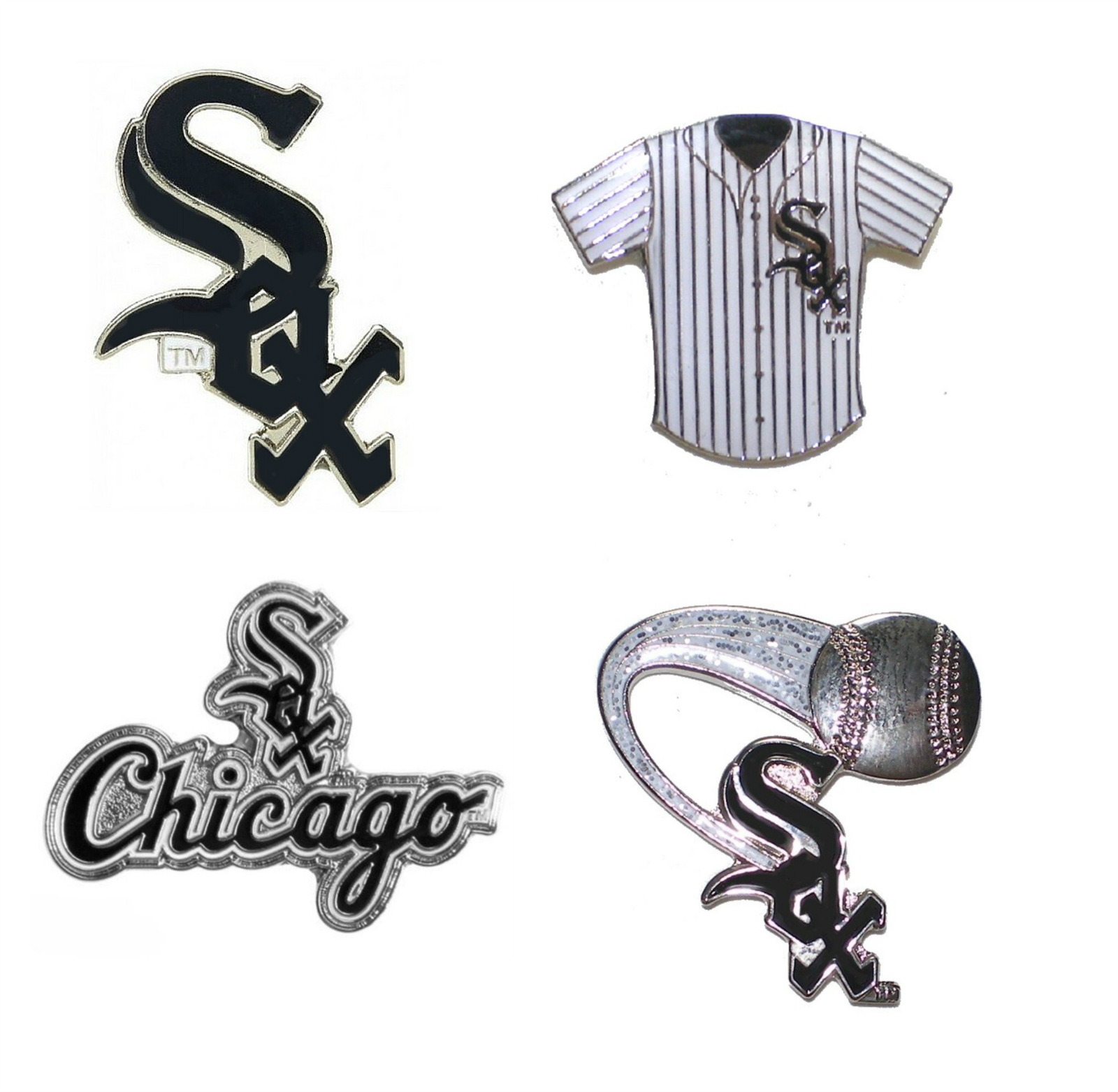 "Chicago White Sox Lapel Pins About 1"" High MLB Bas"
