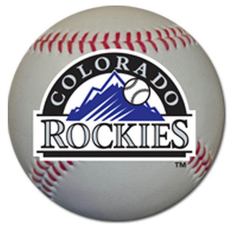 "Colorado Rockies Auto Magnet 4.5"" Baseball Shape w"